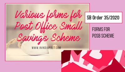 Various forms for Post Office Small Saving Scheme in English and Hindi