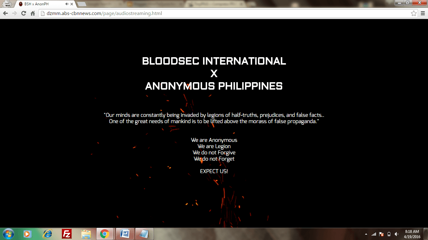 Why ABS-CBN News Subdomain DZMM Website get Hacked