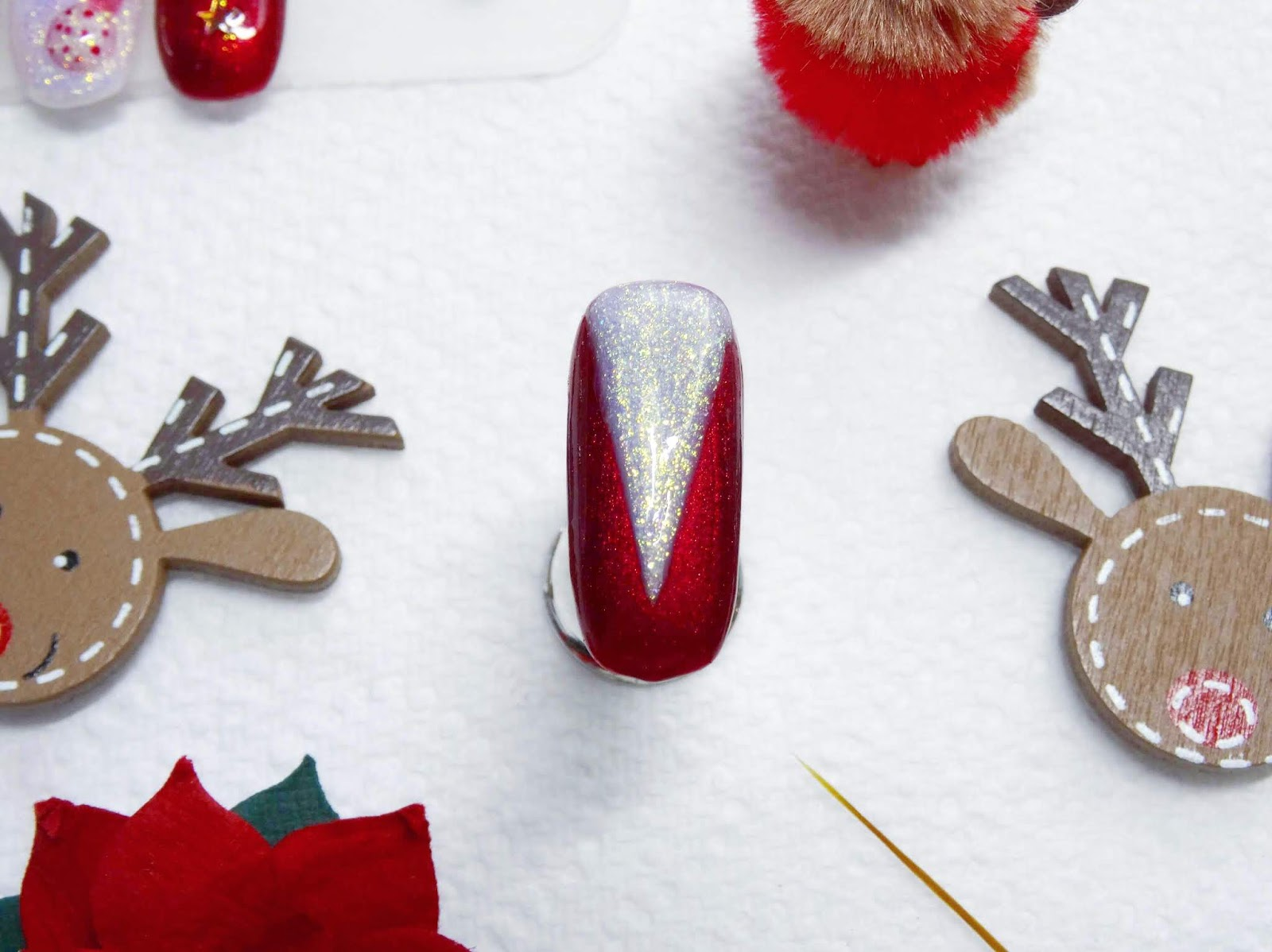 Easy Christmas Tree Nail Art | Step By Step Demo