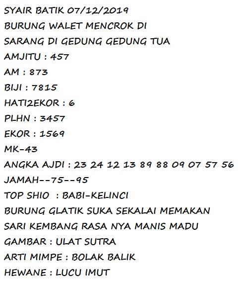 kode syair batik