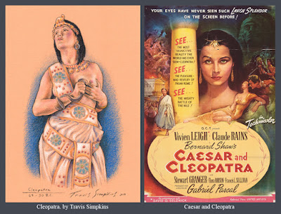 Cleopatra. 69 - 30 BC. Queen of Ancient Egypt. Caesar and Cleopatra (1945). by Travis Simpkins