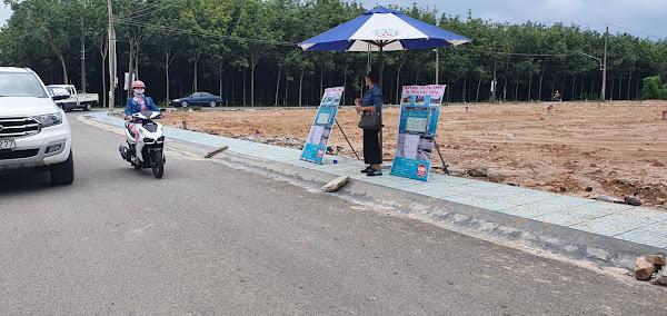 ảnh thực tế vị trí đất đang bán tại thị trấn Dầu Tiếng