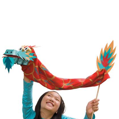 Make a Dragon Puppet