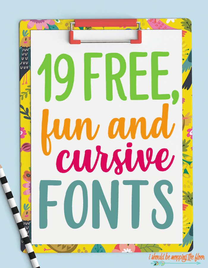 Fun Cursive Fonts