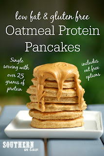 Healthy Single Serve Oatmeal Protein Pancakes Recipe for One Serve