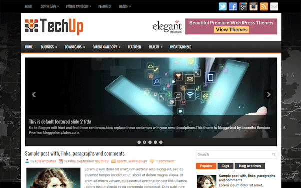 TechUp Free Blogger Template