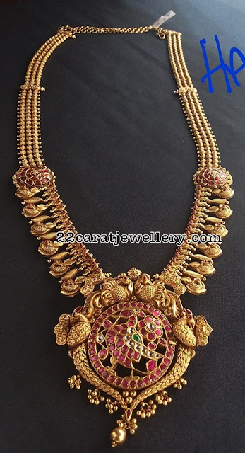 Peacock Antique Sets by Shankarlal Jewellers