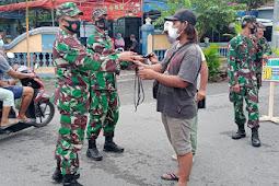 Koramil Jogonalan Laksanakan Operasi Penegakan Disiplin Protokol Kesehatan Dan Bagikan Masker Gratis