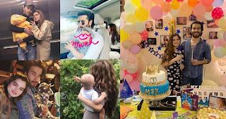 Feroze Khan and Alizey Feroze Son Sultan First Birthday   Awesome Clicks