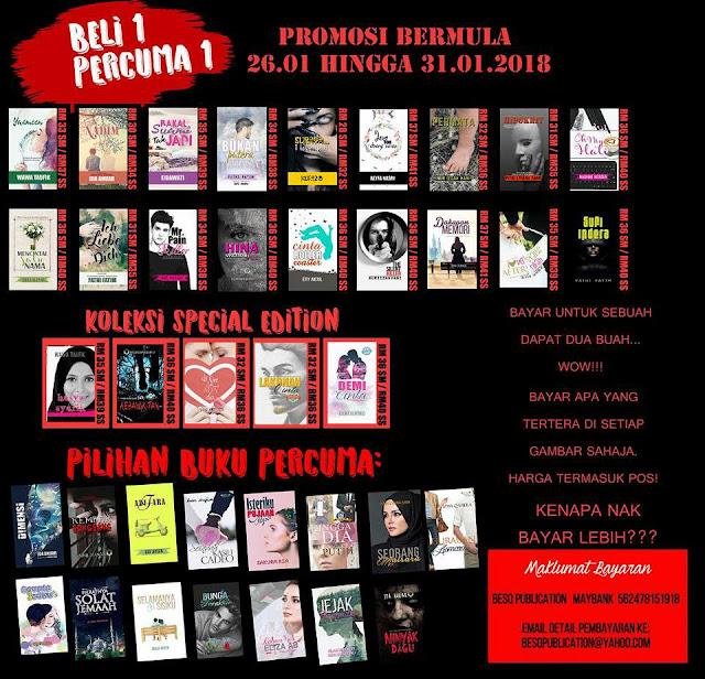Promosi Besq Publication - Beli 1 Percuma 1 Buku