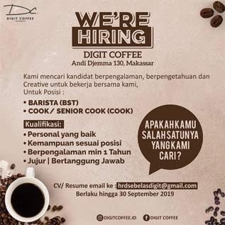 Lowongan Kerja di Digit Coffee Makassar