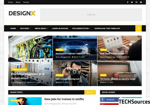 DesignX Blogger theme