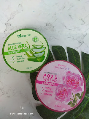 Autumn Rose Water & Aloe Vera Soothing Gel