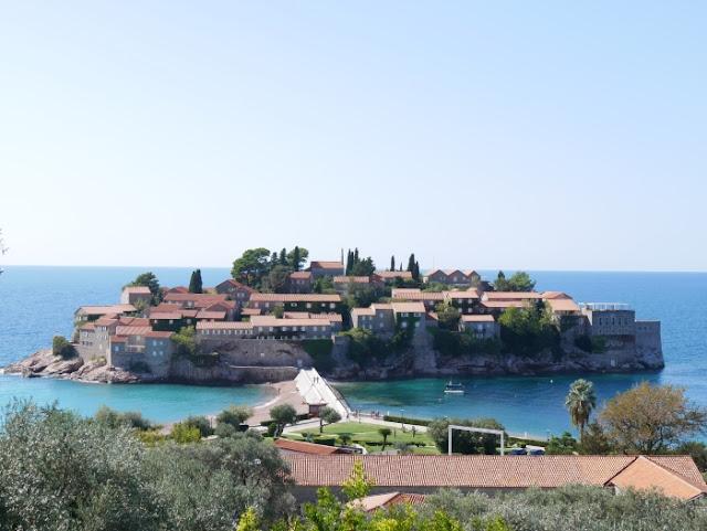 Montenegro Sveti Stefan saari