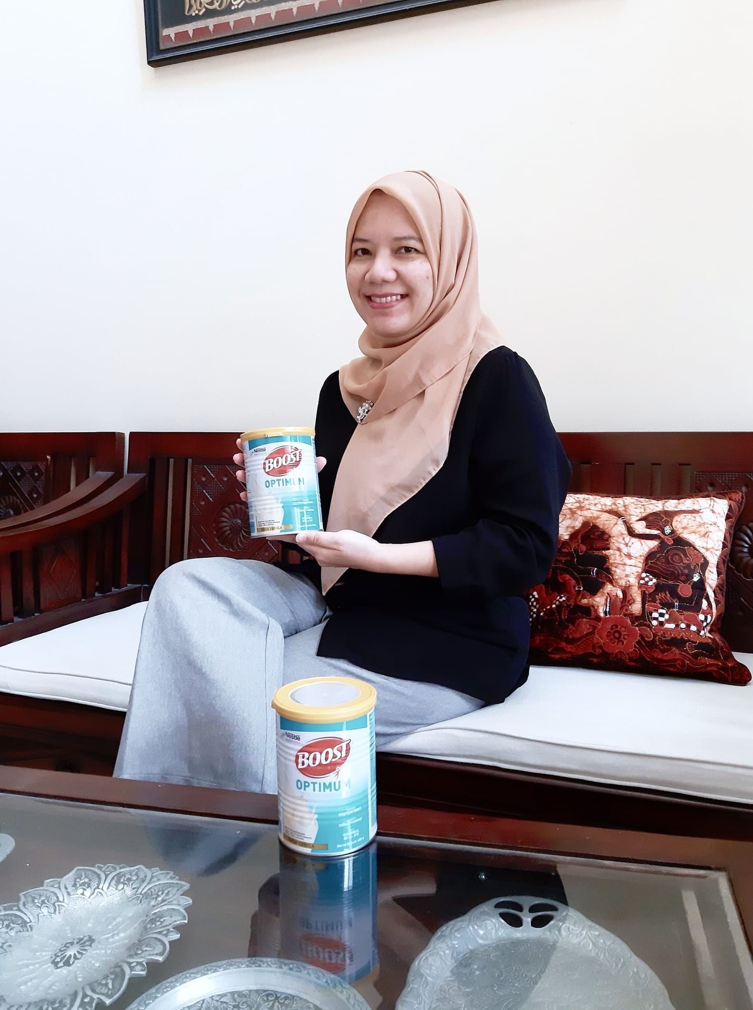 Boost optimum susu untuk orang tua nestle health science nurul sufitri travel lifestyle blogger review