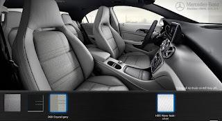 Nội thất Mercedes CLA 200 2017 Xám Crystal 368