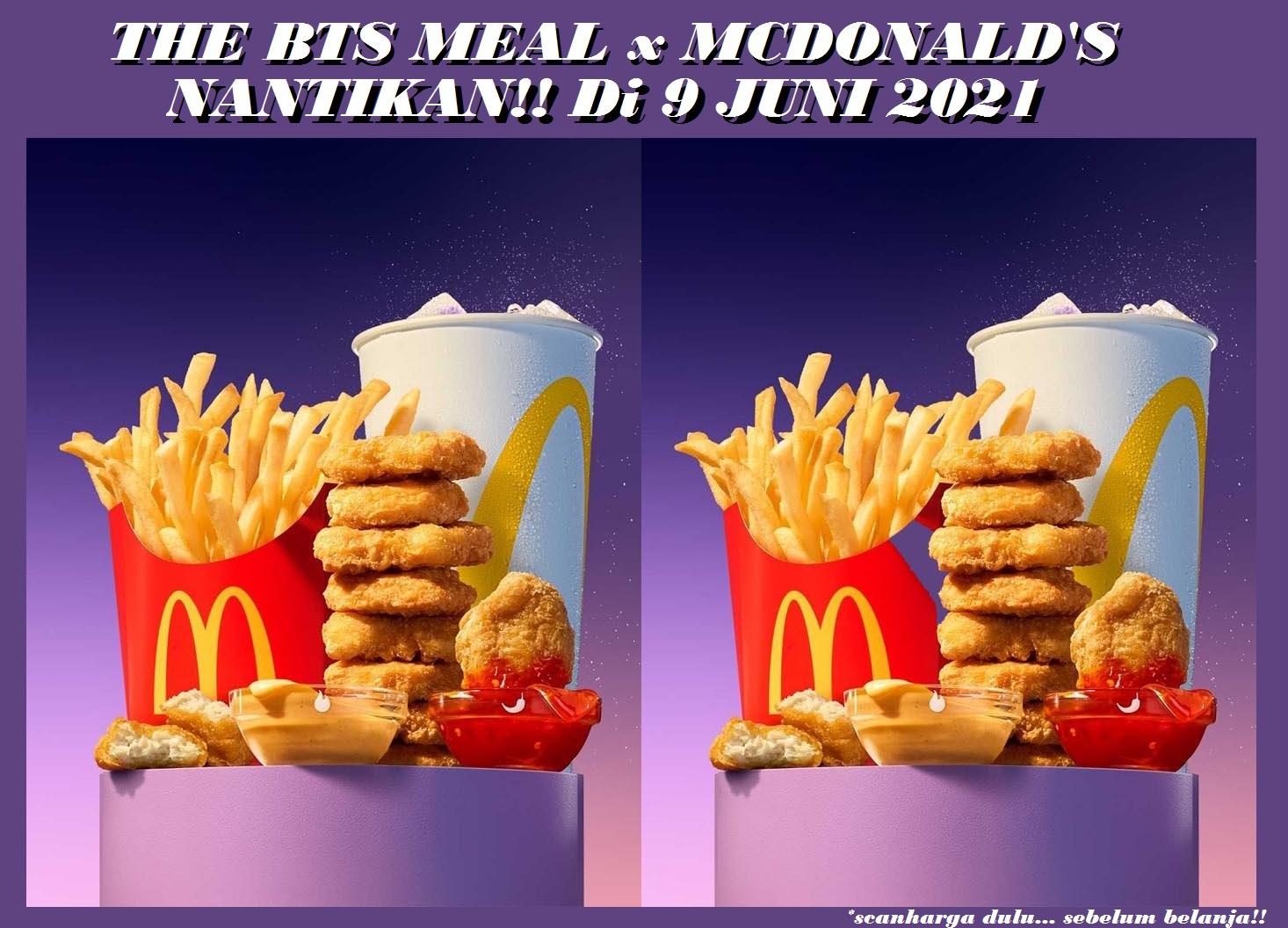 The BTS Meal McDonalds - Harga Special Set Menu Periode Juni 2021