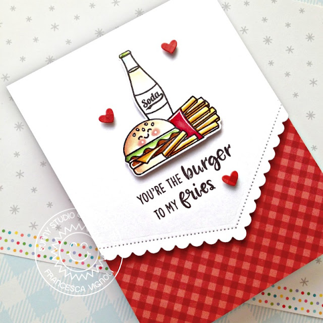 Sunny Studio Stamps: Cruisin' Cuisine Fishtail Banner II Dies Summer Sweets Everyday Card by Franci Vignoli