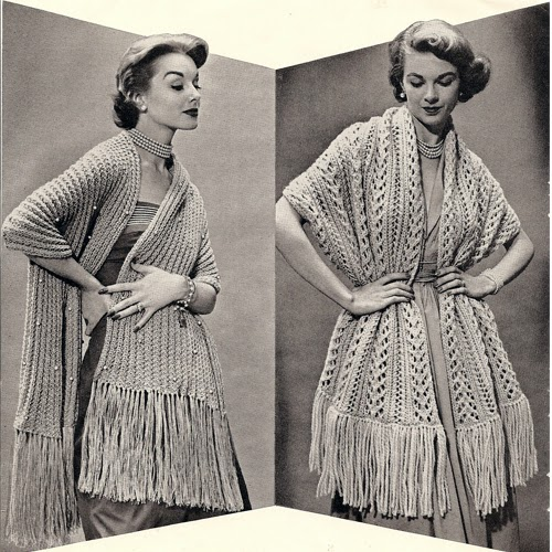 Big Needle Knitted Stole Pattern