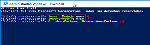 Get-AppxPackage   Remove-AppxPackage