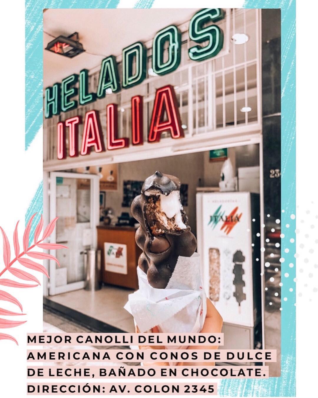 cannolis heladeria Italia