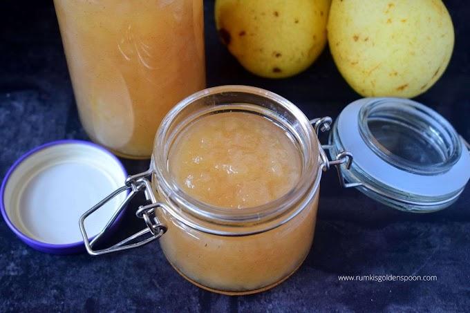 Pear jam recipe | Pear jam recipe no pectin | How to make pear jam