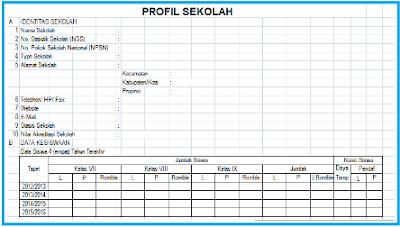 Aplikasi Contoh Sekolah Format Excel SD, SMP, SMA
