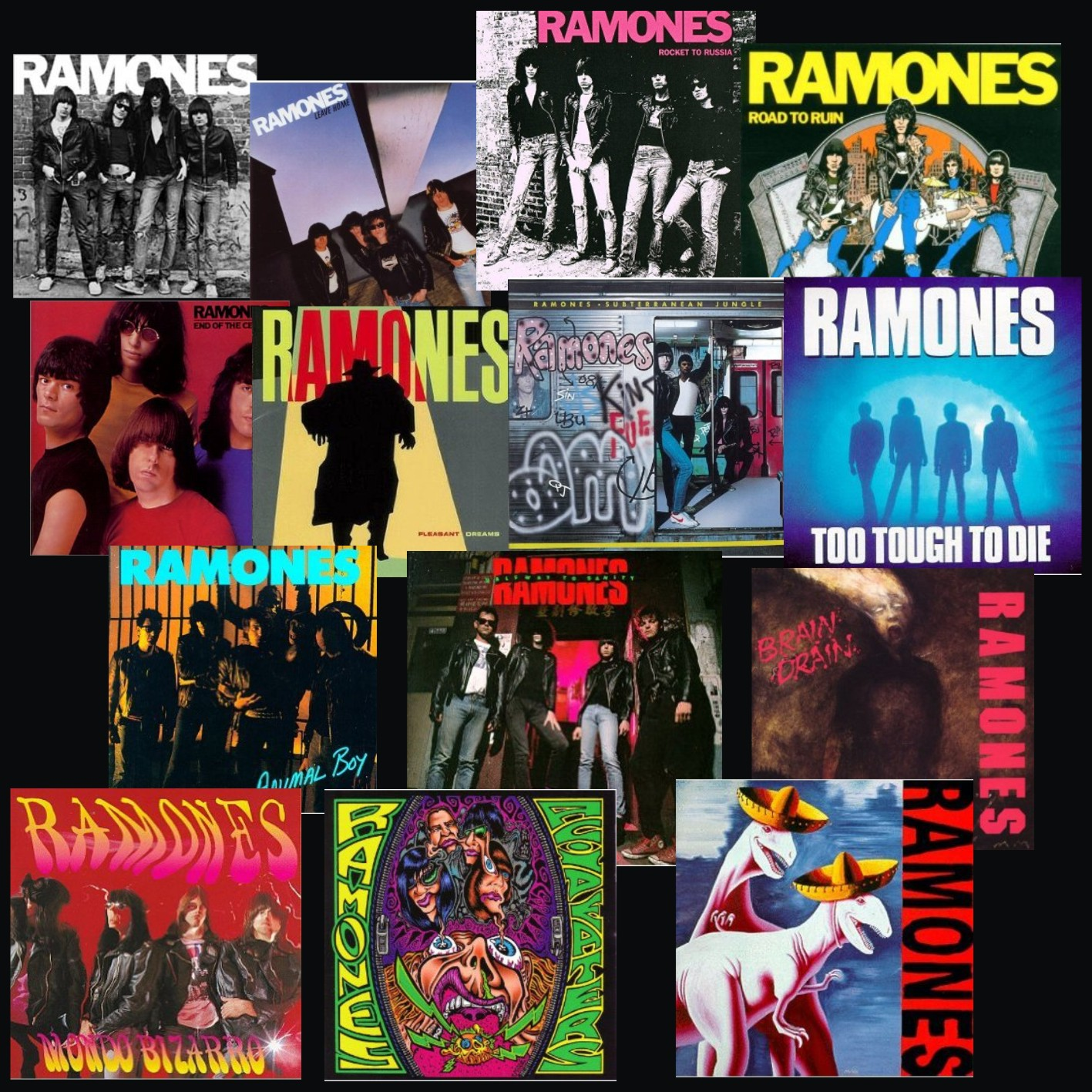 Stathie: THE RAMONES DISCOGRAPHY & VIDEOS
