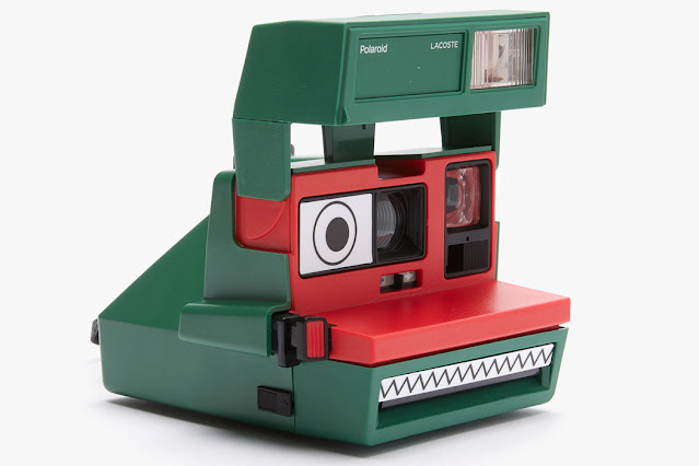 Lacoste-themed Polaroid 600