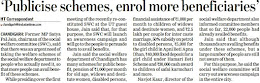 'Publicise schemes, enrol more beneficiaries' - Satya Pal Jain