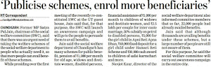 'Publicise schemes, enrol more beneficiaries' - Satya Pal Jain