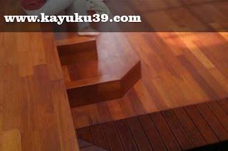 kombinasi Decking Kayu dengan Flooring jati