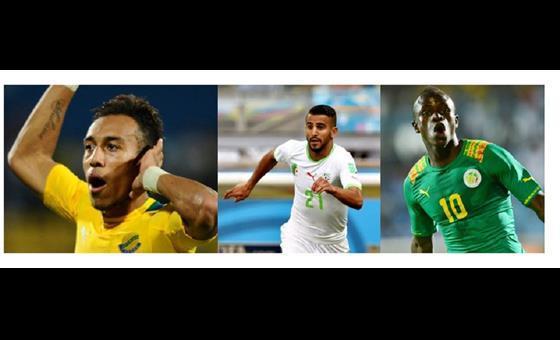 GLOW CAF AWARDS-Aubameyang, Mahrez and Mané Make Top Three