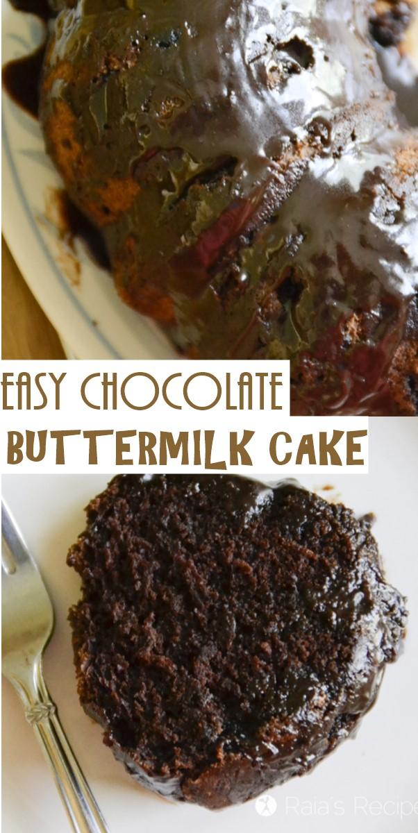 EASY CHOCOLATE BUTTERMILK CAKE #Cakerecipes