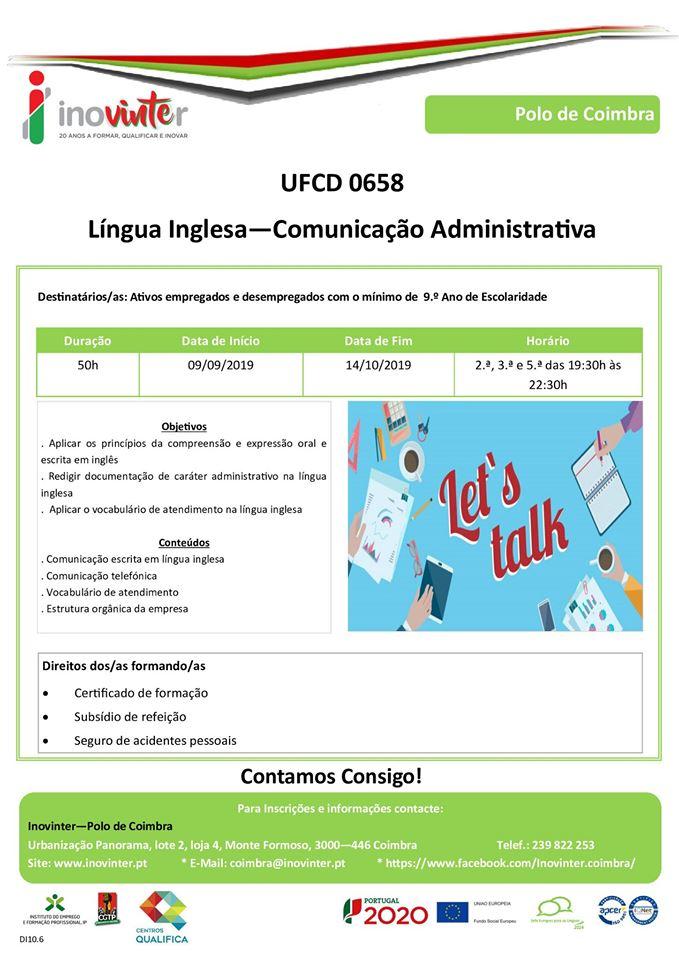 COIMBRA – Cursos gratuitos de Língua Inglesa (para empregados e desempregados)