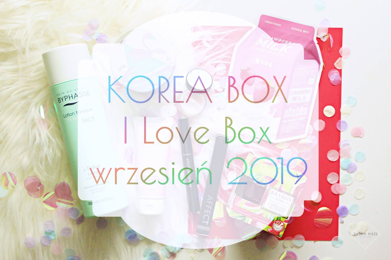 KOREA BOX - I Love Box - wrzesień 2019 - unboxing