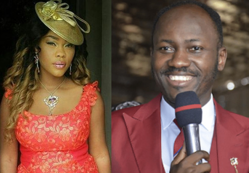 nigerian pastor parks car inside nollywood actress mansion in lagos
