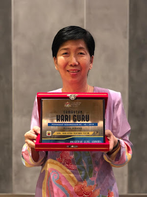 Guru Adiwira Wilayah Persekutuan Labuan  Cikgu Angeline  SK Karupang, WP Labuan