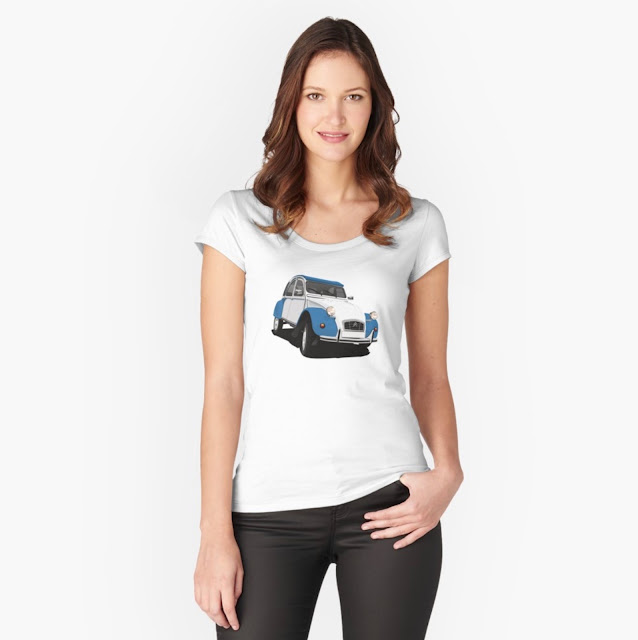 Cornering car classic - Citroën 2CV - T-shirt