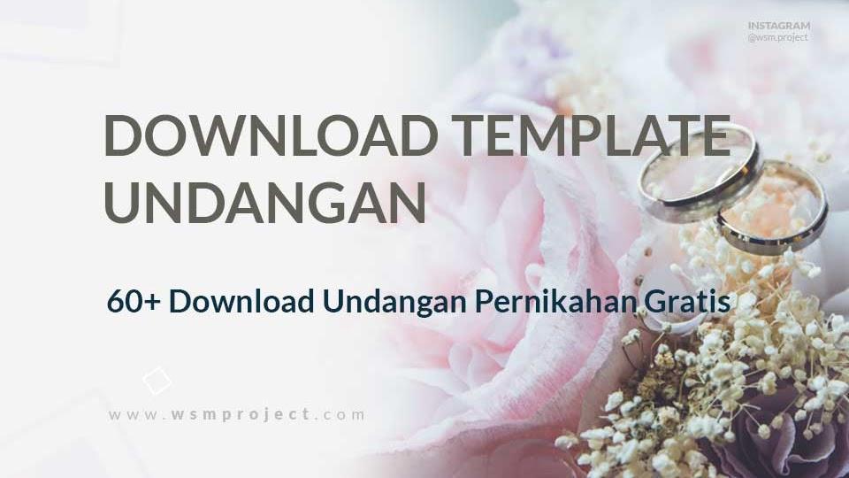 60 Download Template Undangan Pernikahan Siap Edit Format Cdr