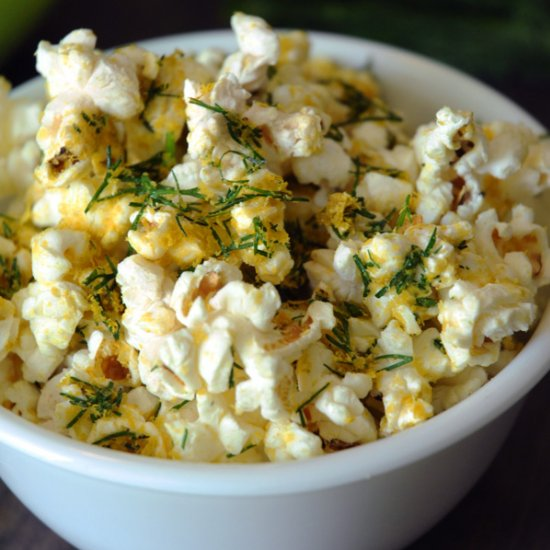 How to Make Lemon Dill Popcorn