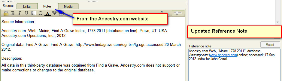 Family Tree Maker User Find-A-Grave - Create Source Template - support ancestry com