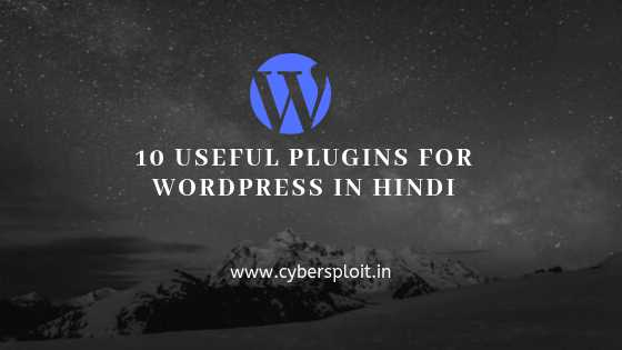 10 useful plugins for wordpress in hindi