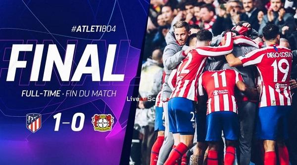 Cuplikan Gol Liga Champions Atletico Madrid vs Bayer Leverkusen