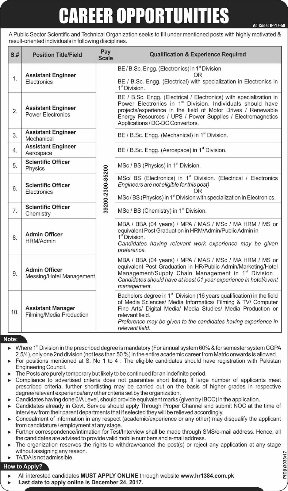 KRL Jobs in Pakistan 2018