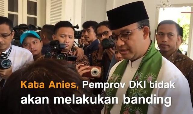 Penuhi Harapan Warga Korban Gusuran Bukit Duri, Gubernur Anies tak Ajukan Banding
