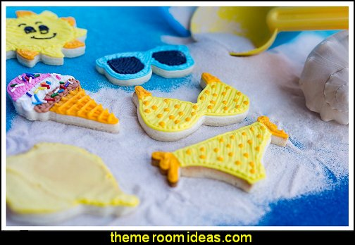 Summer Cookie Cutters, Bikini Top, Bottom, Sun, Shell, Ice Cream Cone, Sunglasses