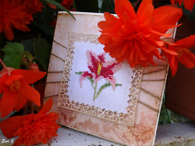 Kwiatowa wymianka kartkowa - lilie