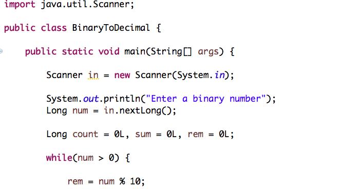 Programming Tutorials: Java Program to Convert Binary to