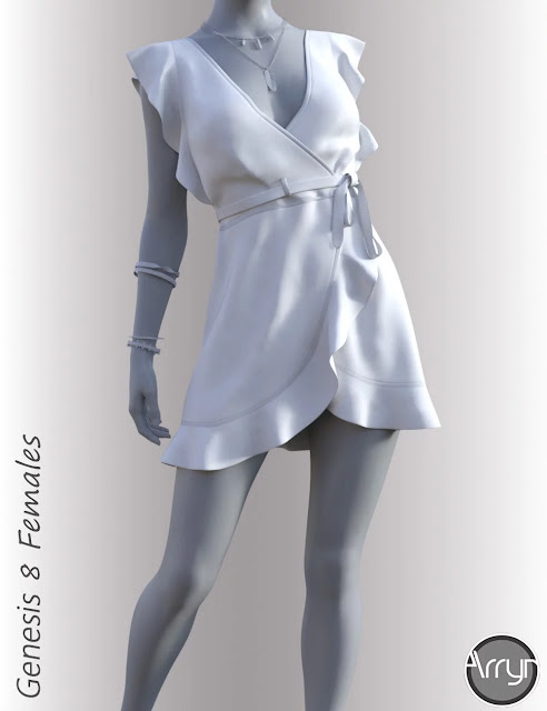 dForce Anne Candy Dress Outfit for Genesis 8 Female